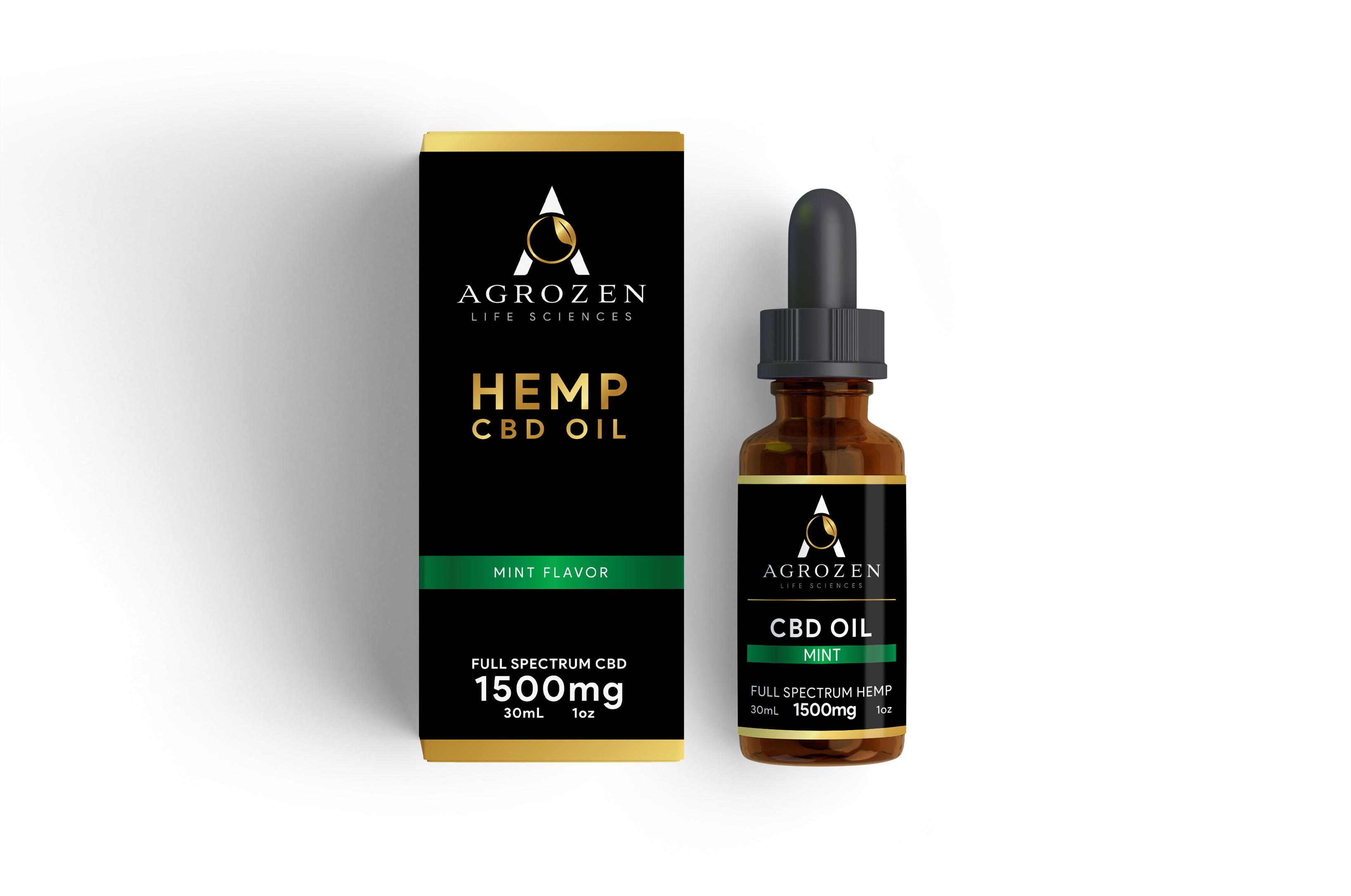 CBD Tincture Oil - 1500mg Full Spectrum Hemp Extract, Mint Flavor