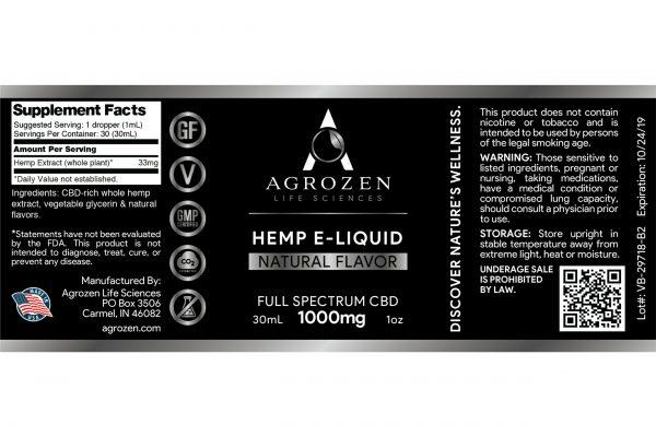 Full Spectrum 1000mg CBD Vape e-liquid